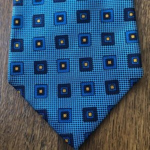 Banana Republic Accessories - Banana Republic Teal Geometric Pattern Silk Tie